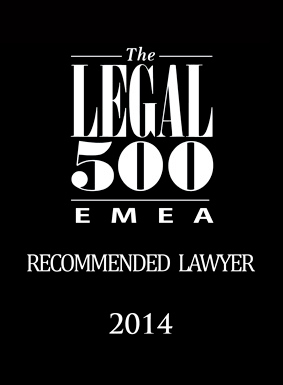 Legal500, Recommended Lawyer, 2014