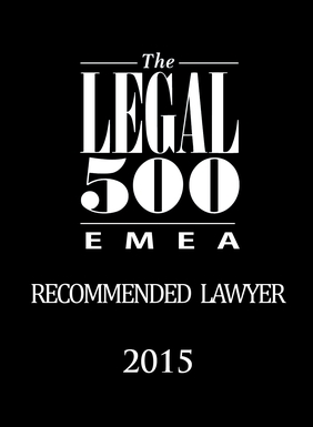 Legal500, Recommended Lawyer, 2015